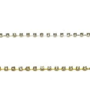 Cadena strass SS8 oro