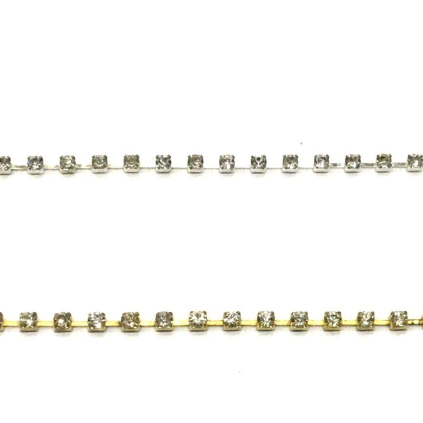Cadena strass SS8 plata