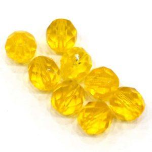 Cuentas de cristal checo amarillas