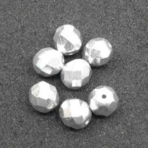 Abalorio de cristal checo plata