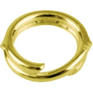 GOLD DOUBLE JUMP RING HEAVY