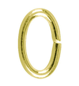 GOLD JUMP RING OVAL