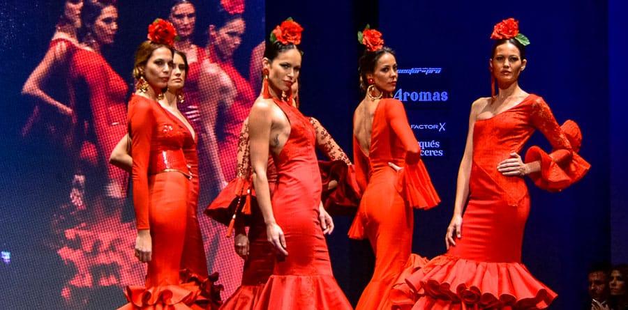 moda flamenca en sevilla simof 2017