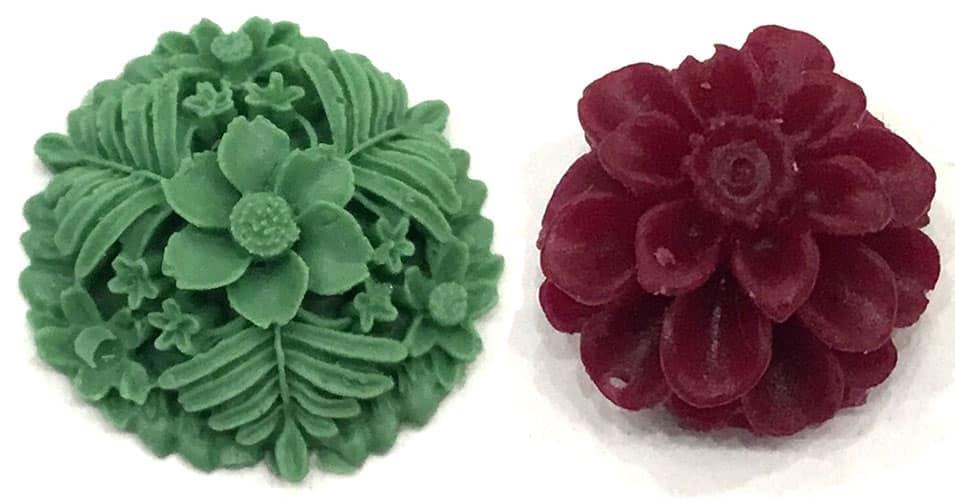 abalorios de flores de resina