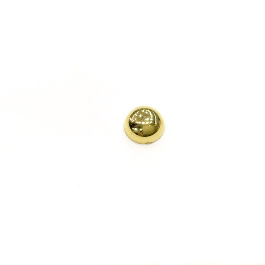 GOLD ROUND CABOCHON