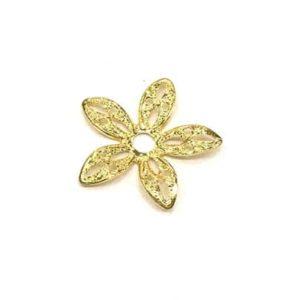 flor dorada simple