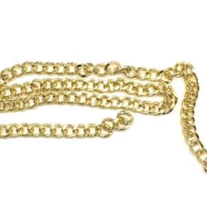 cadena eslabones grandes dorada