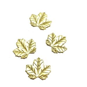 SMALL BRASS VINE LEAF