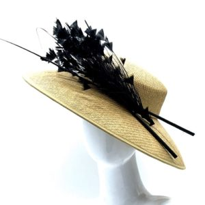 BESPOKE FEATHERED WOMAN HAT