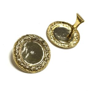 EAR CLIPS VINTAGE GOLD CIRCLE