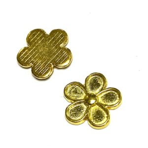 FLEUR OR BRILLANT 12MM