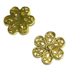 FLEUR OR BRILLANT 15MM