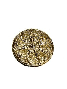 GOLD ROUND FILIGREE BASE