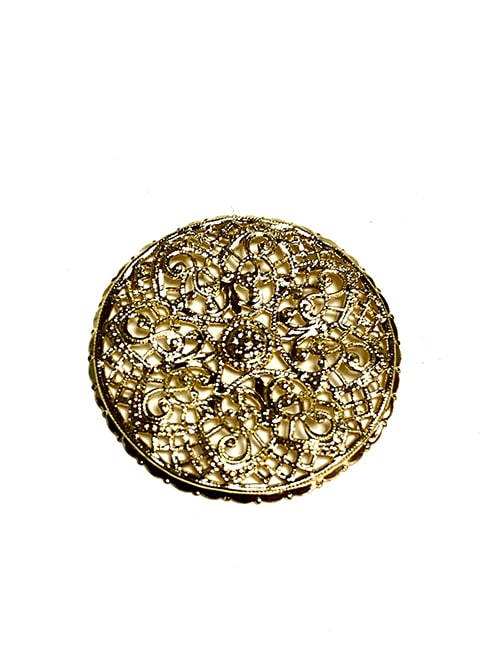 GOLD ROUND FILIGREE BASE
