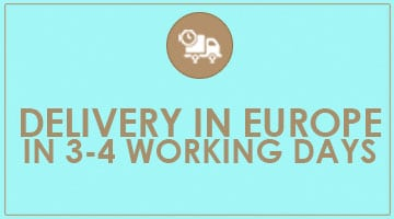 Delivery in Europe in 3-4 working days