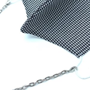SILVER MASK HANGING CHAIN