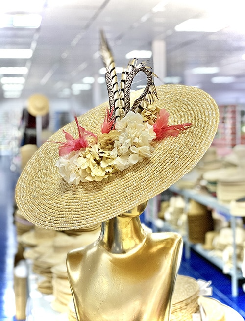 NATURAL STRAW HAT LATERAL VIEW