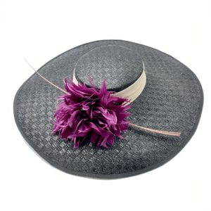 WEDDING HAT BLACK ANTOINE II